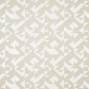 Casadeco Berlin Puzzle 81420126 Blanc Fabric