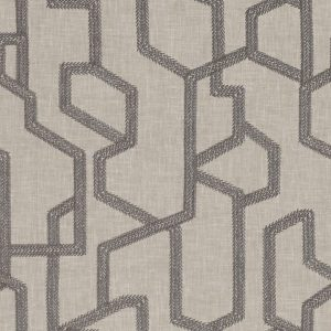 Clarke and Clarke Exotica Labyrinth Charcoal F1300-01