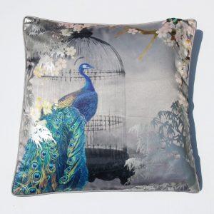Arthouse Suki Silver Foil Cushion & Pillow