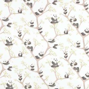 Casadeco Alice and Paul Motif Place Panda AES28299436 Noir Fabric