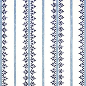 Anna French Antilles Fern Stripe AF15101 Navy Fabric