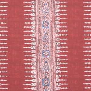 Anna French Antilles Javanese Stripe AF15138 Red Fabric