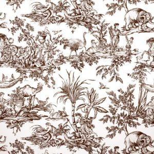 Anna French Antilles Toile AF15169 Brown Fabric