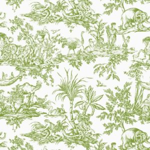 Anna French Antilles Toile AF15172 Green Fabric