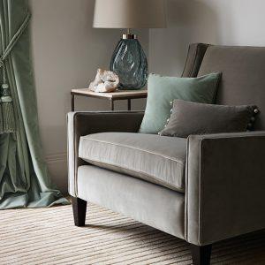 Quartz Velvet Fabric by Zoffany